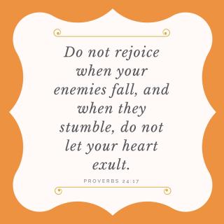 Do not rejoice (1)